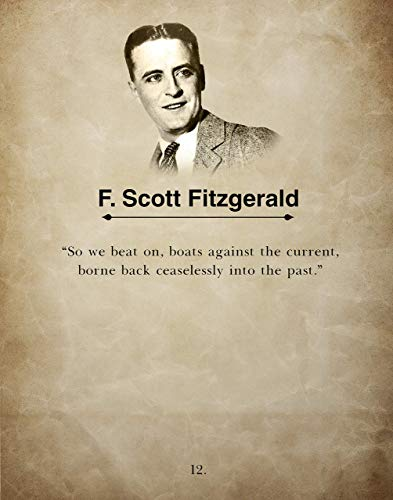 So We Beat On By F. Scott Fitzgerald The Great Gatsby Wall Art Book Quote Print, Inspirational Home & Office Decor, Ideal for Book Lover or Teacher Appreciation, 11inch x 14inch By H+CO Inspired
