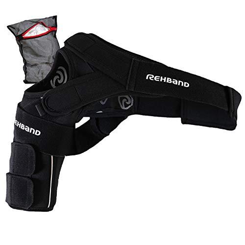 Rehband [1 Paar, 1 Stück UD X-Stable Schulterbandage Unisex + Ziatec Wäschenetz, Größe:XL/rechts, Farbe:Schwarz - 1 Stück