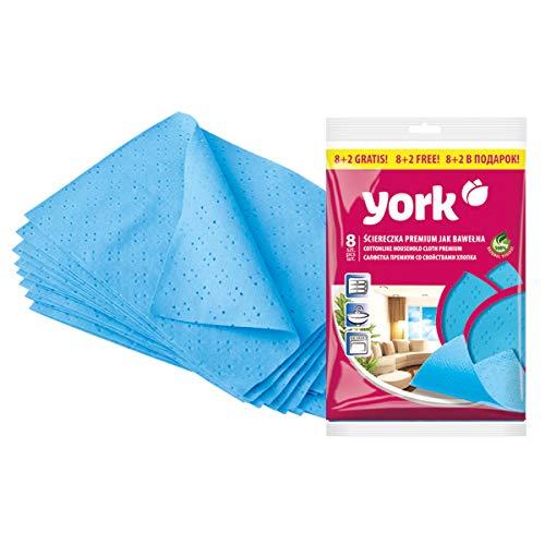 York zachte katoenen doek 8 + 2 blauw, 124 g