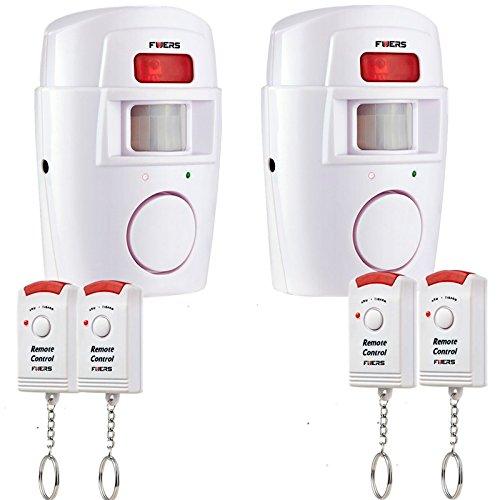 Fuers - Alarma del Sensor de Movimiento de casa Fuers Alarma hogar de Movimiento + 2 mandos a Distancia (2 piezaA)