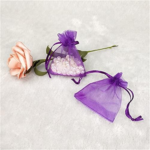 LINPO 50 unids/lotes joyería regalo bolsa de embalaje de joyas pequeñas bolsas de organza bolsas de embalaje de fiesta de boda tamaño múltiple