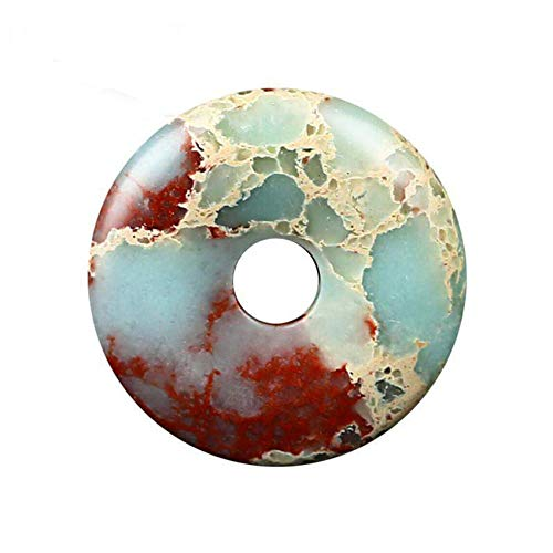 GZMUS 2Pcs Set Natural Stone Lucky Spacer Zen Pendant Loose Bead Lucky Spacer Feng Shui Chinese Charms for Buddhist Beads Bracelets for DIY Crafts Jewelry Making Accessories for Good Luck,25mm