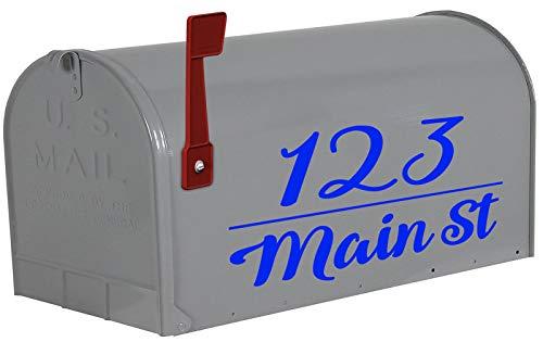 VWAQ Personalized Mailbox Address Decals Custom Mailbox Sticker Home Address - TTC21 (Blue)