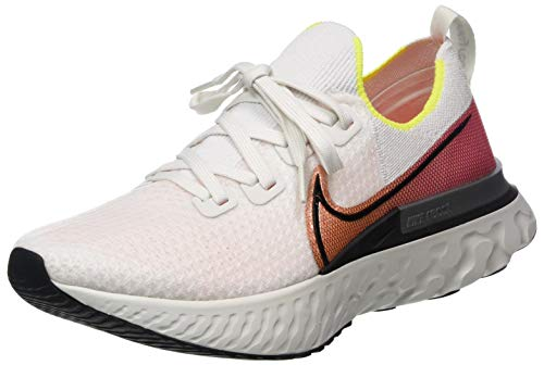 Nike Herren React Infinity Run Flyknit Laufschuhe, Grau (Platinum Tint/Black-Pink Blast 004), 43 EU