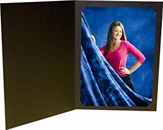 Black Photo Folder for a 8x10 or 6x8 Photo -Pack of 50