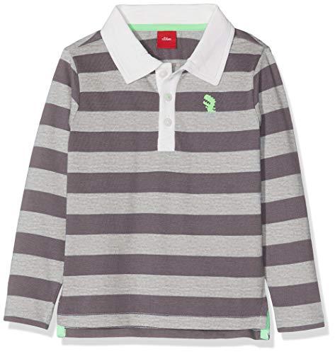 s.Oliver Baby-Jungen Poloshirt , Grau (Greymelange Knittedstripe 94g1) , 86