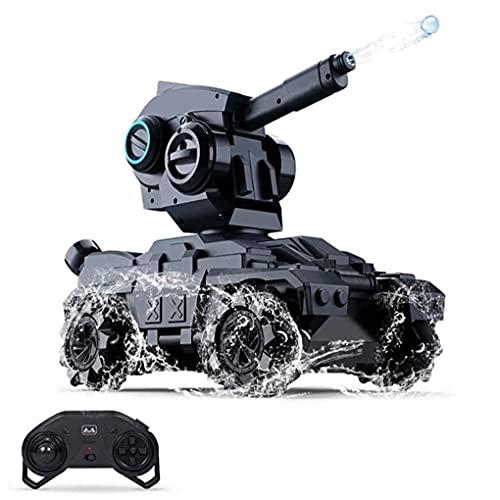 UimimiU Tanque de control remoto Un vehículo todoterreno de tracción en las cuatro ruedas que puede lanzar una bola de agua Mech contra un truco de deriva 2.4 GHz 360 ° Rolling Rolling 4WD de alta vel