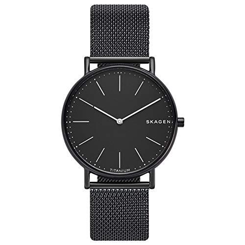 Skagen Herren Analog Quarz Uhr mit Edelstahl Armband SKW6484