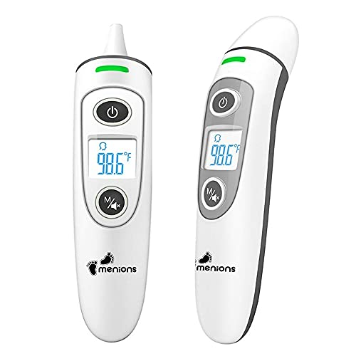 Infrared Body Thermometer Baby - Digital Health Thermometer for Kids/Adults Ear thermometers, Forehead Thermometer Children, Thermometer Newborn, Objects and Ambient, Instant Reading, Fever Warning