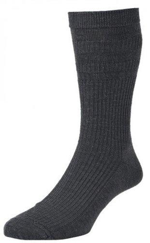 1 Paar HJ Hall Hj90 Wollsocken Softop Weite Socke Ohne Gummiband 6-11 Anthrazit