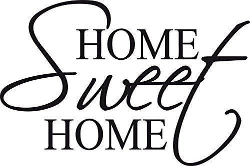 GRAZDesign Wanddekoration Home Sweet Home - Wanddeko Arztpraxis Eingang DielebFlur Spruch für zuhause klein - Wandtattoo Deko für Sofa Couch / 60x40cm / 720246_40_070