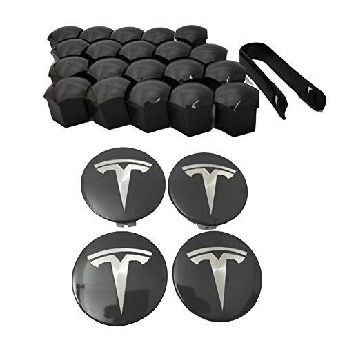 jinclonder Tesla Model 3 Aero Radkappensatz Mittelkappensatz und Radmutternabdeckung