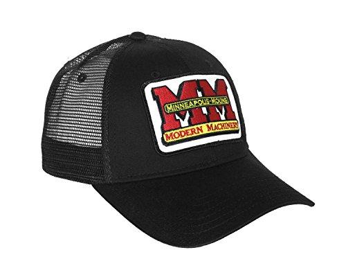 J&D Productions Minneapolis-Moline Logo Hat, black with mesh back
