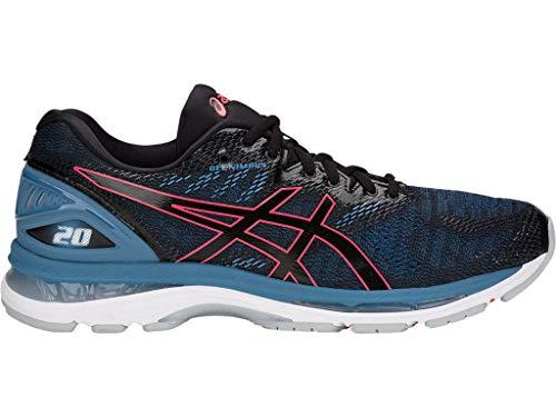 ASICS Women's Gel-Nimbus 20 Running Shoes, 7M, Black/Azure