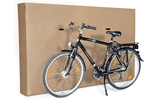 ratioform Caja resistente para transporte de bicicletas – Caja de cartón de onda doble, montaje rápido y fácil de transportar (1900 x 250 x 1200 mm)
