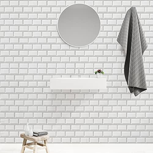 Patchwork blanco,5 hojas,60*60CM,Adhesivos de pared,3D,Autoadhesivo,Espuma gruesa,Impermeable,Pared de sala de estar y Dormitorio y fondo,Decoración,Decoración,Arte,Bricolaje,Decoración del hogar
