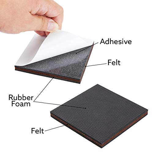 """Non Slip Furniture Pads – Premium 24 pcs 4"""" Furniture Pad! Best Self Adhesive Furniture Grippers Rubber Feet Couch Stoppers – Ideal Furniture Floor Protectors Furniture Feet for Fix Furniture"""