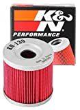 K&N Motorcycle Oil Filter: High Performance, Premium, Designed to be used with Synthetic or Conventional Oils: Fits Select Suzuki, Arctic Cat, Kawasaki Vehicles, KN-139 , black