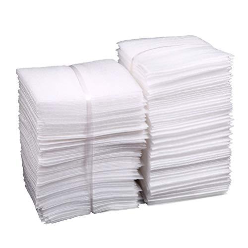 STOBOK 100 Stücke Schaumstoff Beutel Schaumfolie für Glas Möbel Porzellan und Geschirr Verpackung