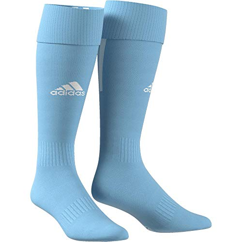 adidas Erwachsene Santos 18 Socken, Clear Blue/White, L (Manufacturer size:EU 40-42)