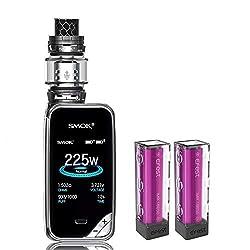 Elektronische Zigarette, Authentic Smok 225W X Priv Kit,Vapes Starter Kit mit 8ml Tank TFV12 Prince Kerne und Colorfulscreen,Ohne Nikotin, Ohne Flüssigkeit (Gun Metal)