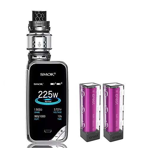 Sigaretta Elettronica,Authentic Smok 225W X Priv Kit, Dispositivo per Scaldare il Tabacco con 8ml Carro Armato+TFV12 Prince Coil+Batterie Efest 2 * 3000Amh, Senza nicotina, Senza liquido(Gun Metal)