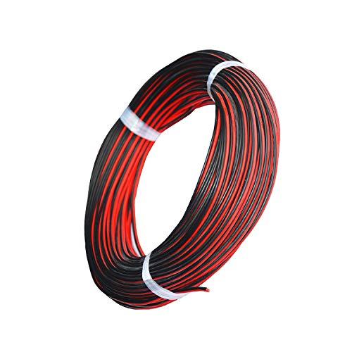 TUOFENG 20 awgシリコン電線20メートル[黒10 m赤10 m] 2導線平行電線ソフトで柔軟な20ゲージフック無酸素素線錫メッキ銅線