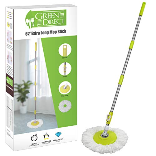 Green Direct Mop Stick Spin Mop Deluxe Bucket Cleaning System