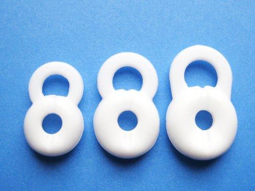 3 S M L Weiß Ersatz Stay-In-Ear Ohrstöpsel für Jawbone Icon HD und Jawbone Prime 1 2 3 Bluetooth Headset