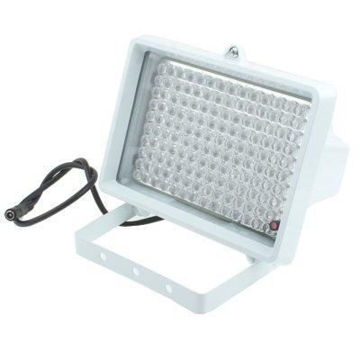 GJPAJGID Bewakingscamera 140 LED-hulplicht voor CCD-camera, IR-afstand: 150m (ZT-140LF), Grootte: 11x17x12.5cm (wit)