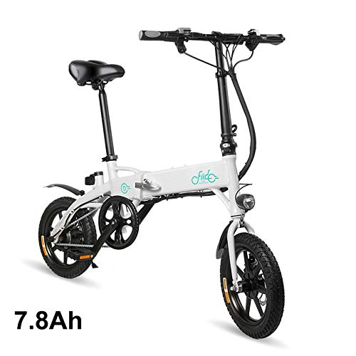 Gizayen Bicicletta Elettrica Pieghevole, Moped (Power Assist System) & Manpower Modes E-Bike, Anti-Slip Shockproof Adjustable Height Bicicletta a Pedalata Assistita for Unisex Adulto