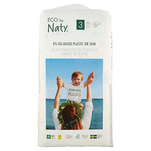 Naty Couches Jetables Eco pour Peaux Sensibles Taille 3 4-9 kg - 1 Paquet de 50