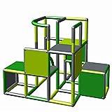 Moveandstic 875056 - Grundbaukasten Profi grün apfelgrün Titan grau rot (grün apfelgrün...