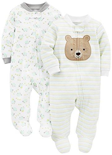 Simple Joys by Carter's Baby, confezione da 2 pezzi, in cotone ,Bear/Turtle ,Newborn