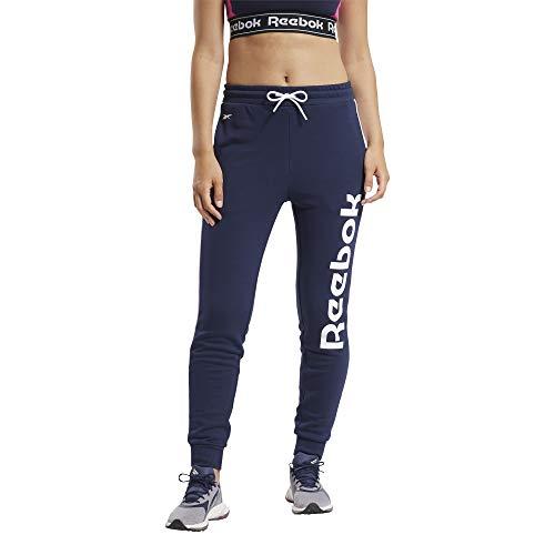 Reebok Pantalon d'entraînement pour femme avec logo linéaire