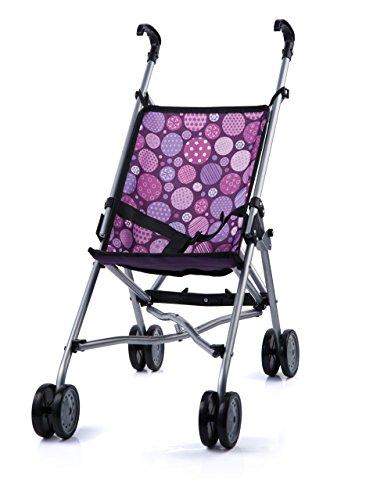 Bayer Design- Sillita de Paseo para muñecas, Plegable, con Cintura, púrpura, Lila,...