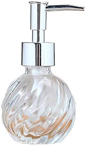 Vloeibare zeep Dispenser glas, kop van de pomp Plastic Solid, Ideaal for essentiële oliën, lotions en vloeibare zepen, Silver, 125ml size: 125ml, kleur: Gold (Color : Silver)