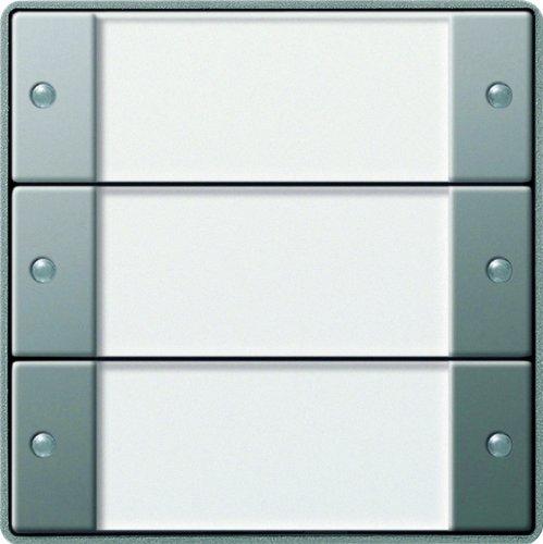 Gira 101320 KNX Tastsensor 2 3-Fach ohne Controller Gira E22, Edelstahl