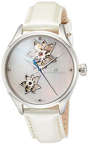 Hamilton Jazzmaster H32115892 - Reloj de pulsera con esfera de nácar con corazón abierto