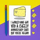DKISEE Tarjeta del día de la madre para mamá vegana, queso lácteo ponche 17 x 25 cm