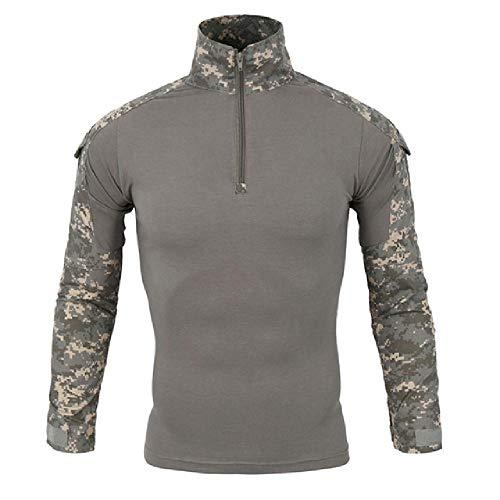 Hombres soldados Combat Tactical T Shirt Military Force Camo manga larga Camisetas
