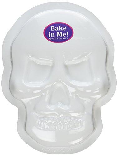 CK Products Kuchenform mit Totenkopf-Motiv, aus Kunststoff, Weiß