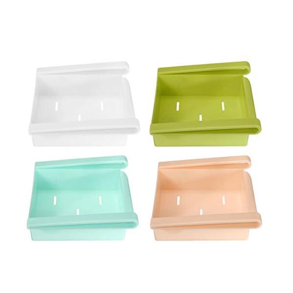 Bluelover Cocina Plástico Nevera Nevera Rack de almacenamiento Congelador