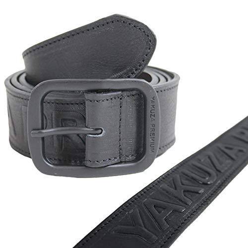 Yakuza Premium Leder Gürtel 2970 schwarz mit Schriftzug