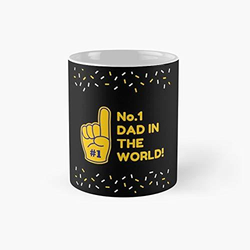 Taza clásica con el número uno del día del padre 2021, el mejor regalo divertido tazas de café 11 onzas