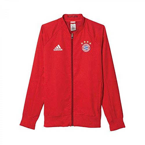adidas FCB Anth Jkt Wo FC Bayern Giacca da Uomo, Rosso/Bianco/Blu (Rojfcb), XS