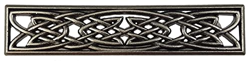 Set of 6 Classic Celtic Knot Drawer Handles in Old Silver