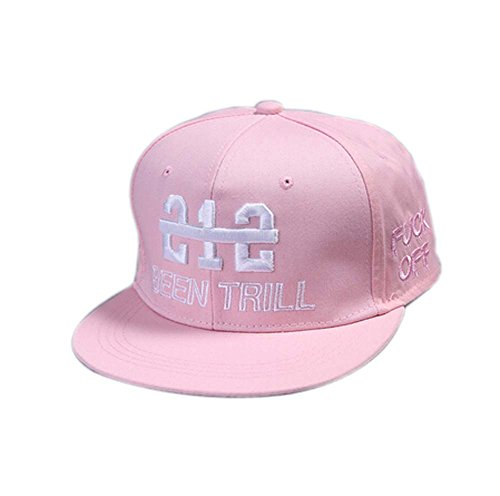 Blancho Unisex Fashion Baseball Cap Casquette Hip-Hop (Ajustable, Rose)
