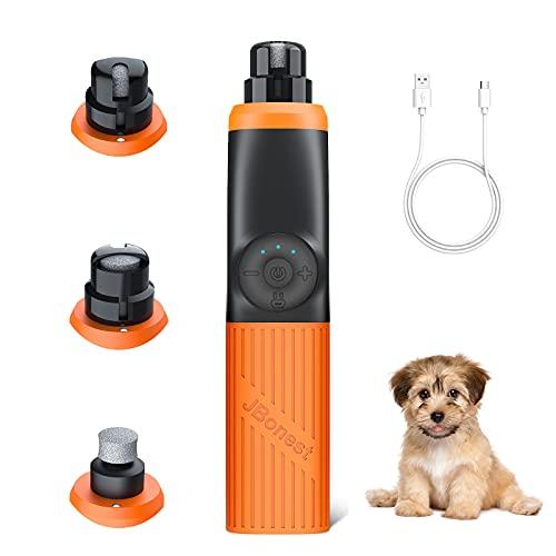 JBonest Krallenschleifer für Hunde & Katzen mit 2 LED LICHT, Elektrischer Hundekrallen Schleifer mit 20h Arbeitszeit(2000mAh), 3 Geschwindigkeiten, USB-Anschluß, für Kleine/Mittlere/Große Haustiere