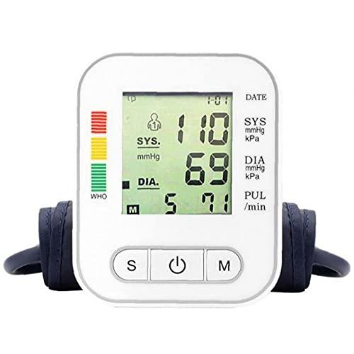 TongICheng Presión Arterial Automático Probador Amplio Dispositivo De Pantalla Digital del Brazo Superior De La Máquina Blanca BP